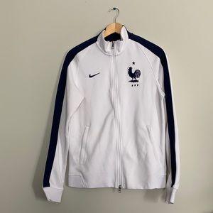 2014 Nike France jacket white and blue VINTAGE